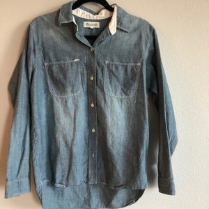 Madewell chambray button-down blouse size M